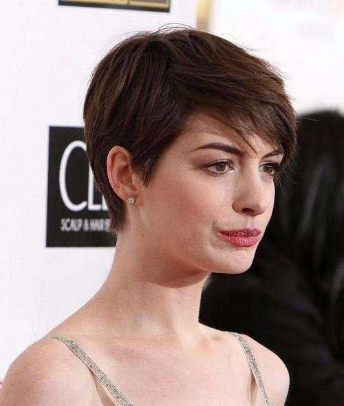 8.Anne Hathaway Pixie...