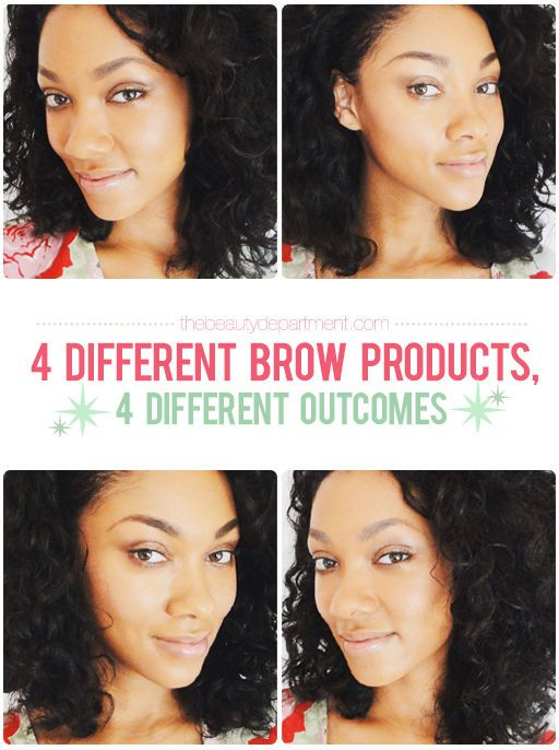 A guide to brow-enhancers via the beauty department....