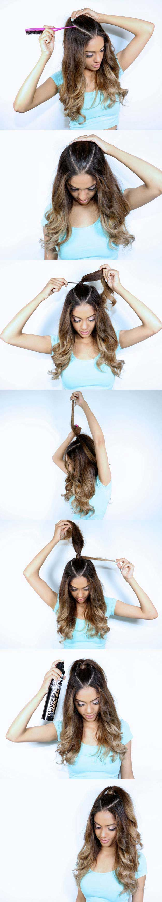 Amazing Half Up-Half Down Hairstyles For Long Hair - Ariana Grande Inspired Hair...