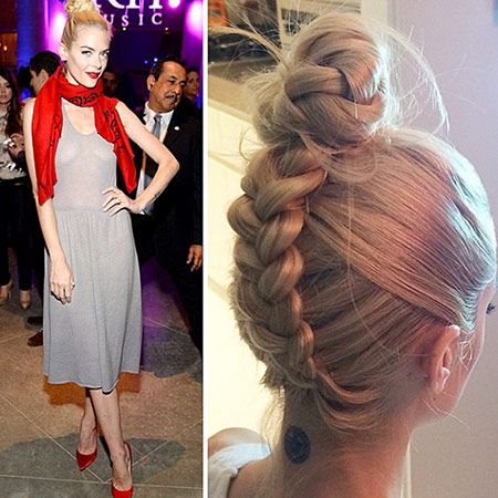 An edgier take on two classic styles: braids and buns....