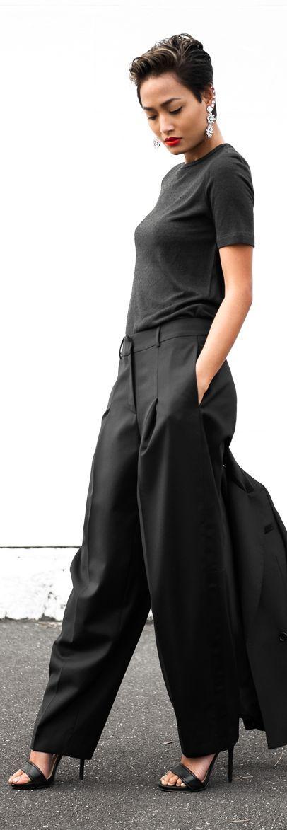 Black Wide Leg Trousers #It Girl...