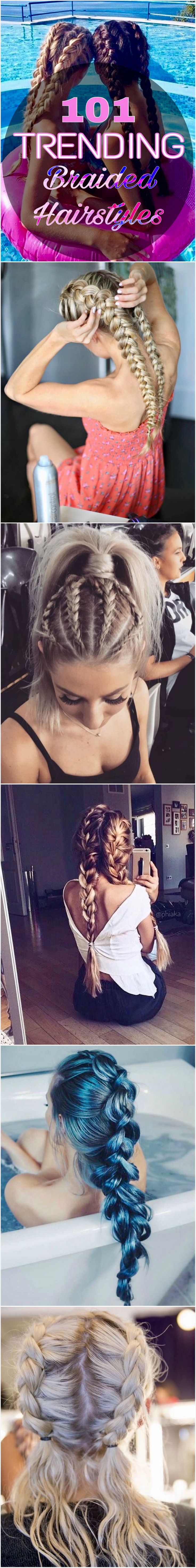 Braided hairstyles trending on Pinterest and Instagram right now. Creative: Styl...