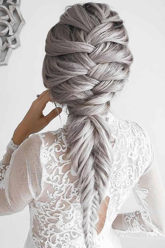 Braided Silver hair style 2017...