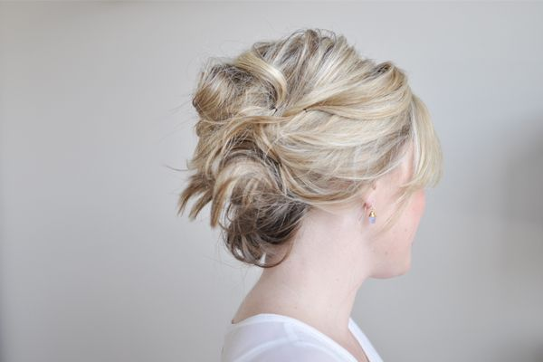 Casually messy triple-twist hairstyle from Kate Bryan at the Small Things blog. ...