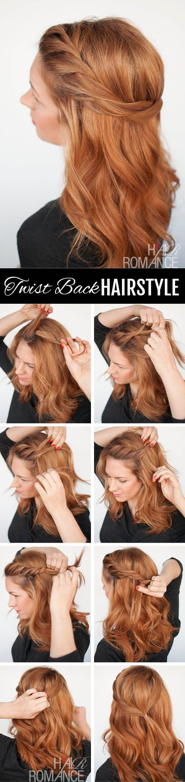 Easy half-up hairstyle....