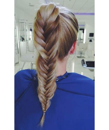 Fishtail Ponytail | This pony does take a little bit of braiding expertise, but ...