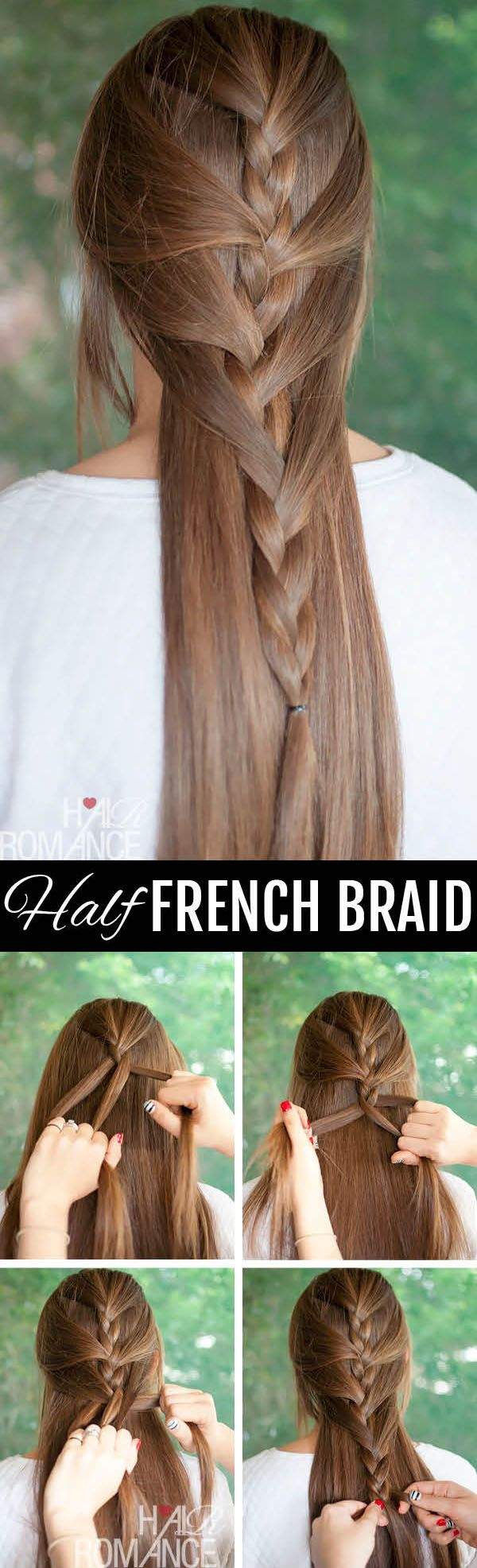 Half French braid....