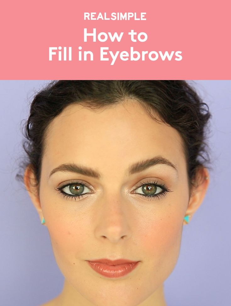 How to Fill in Eyebrows | Whether you over-plucked or you weren't blessed with...
