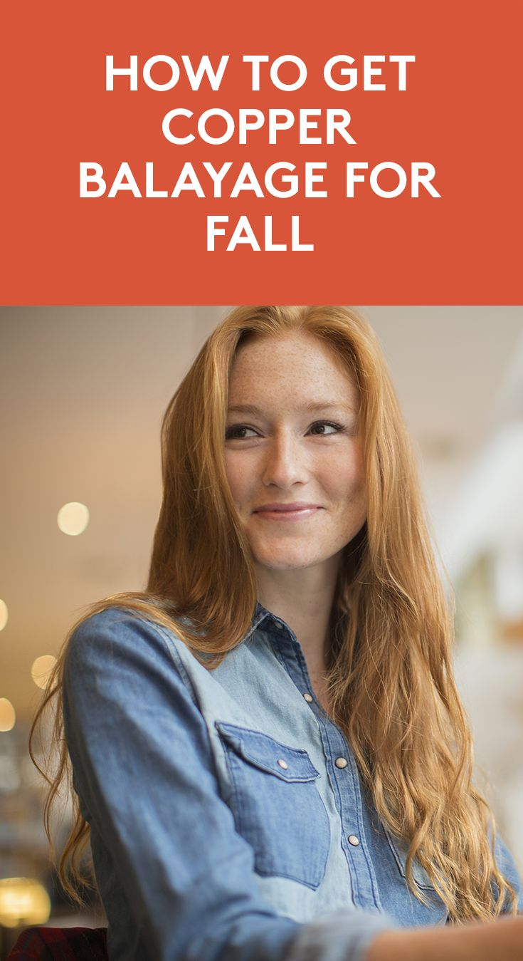 How to Get Copper Balayage For Fall | It's #fall 2017's most popular #hairstyle....