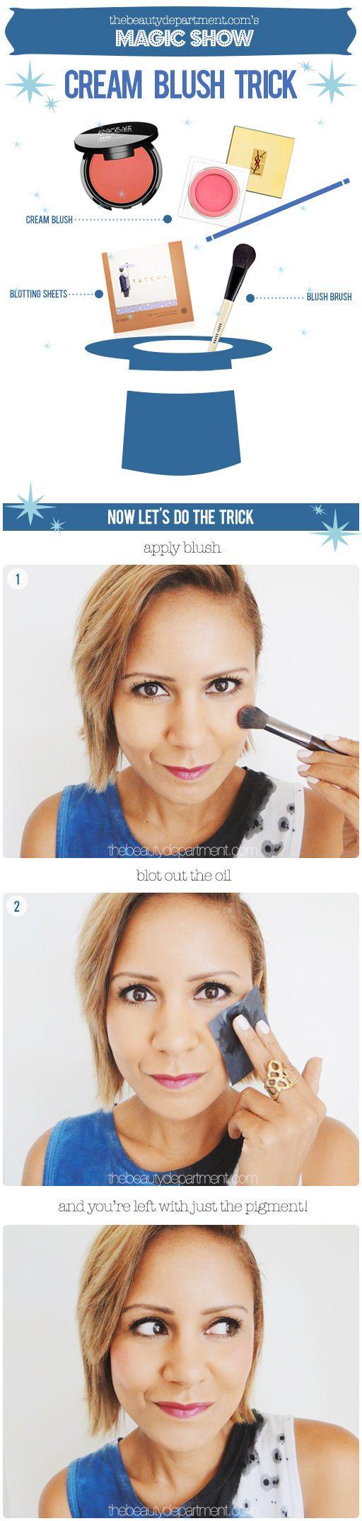 How to make cream blush last longer....
