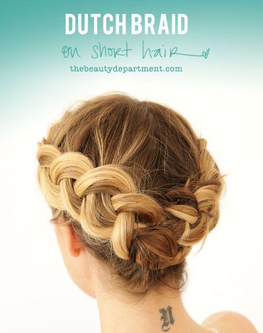 Hurrah: a braid for shorter hair....