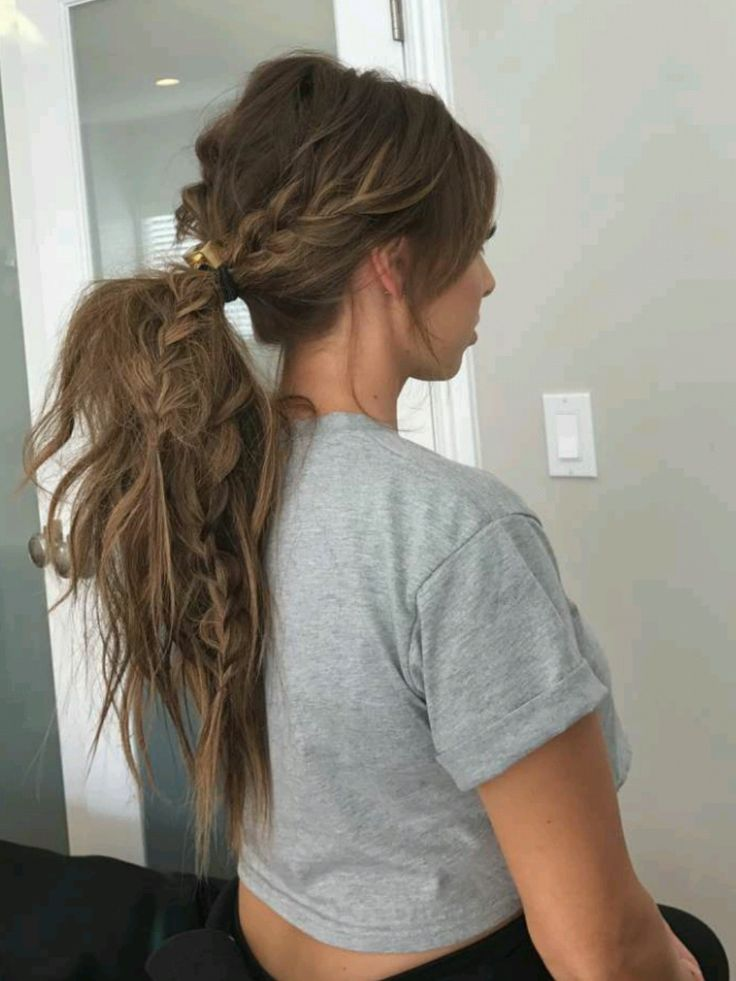 love this messy braided ponytail via @lusterlux on snapchat...