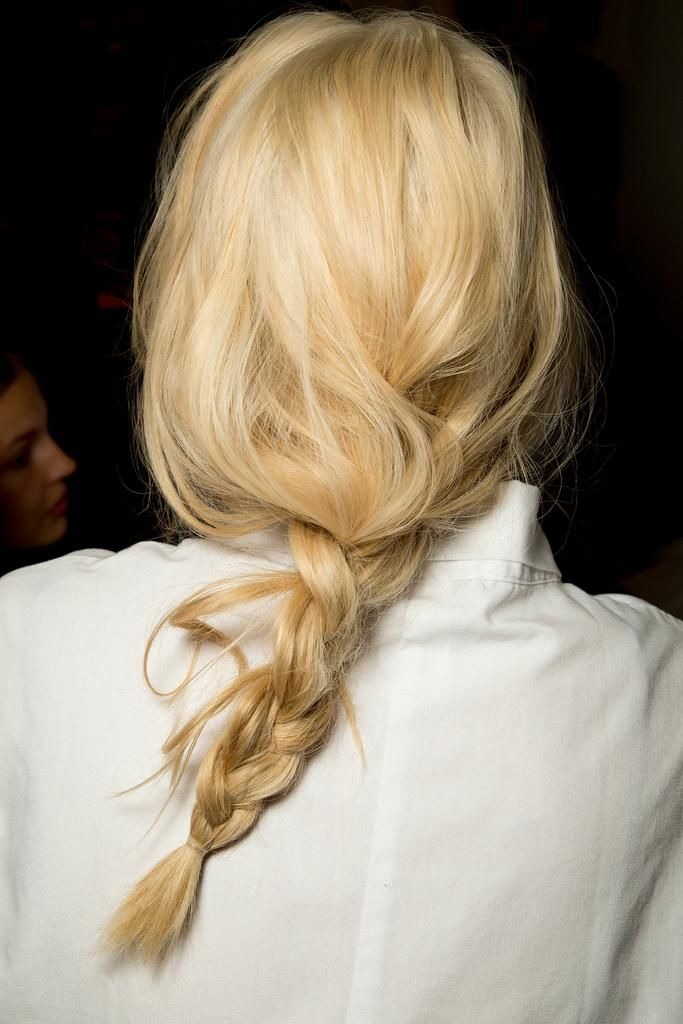Messy braid. On the runway at Michael Kors Spring 2015, NYFW....