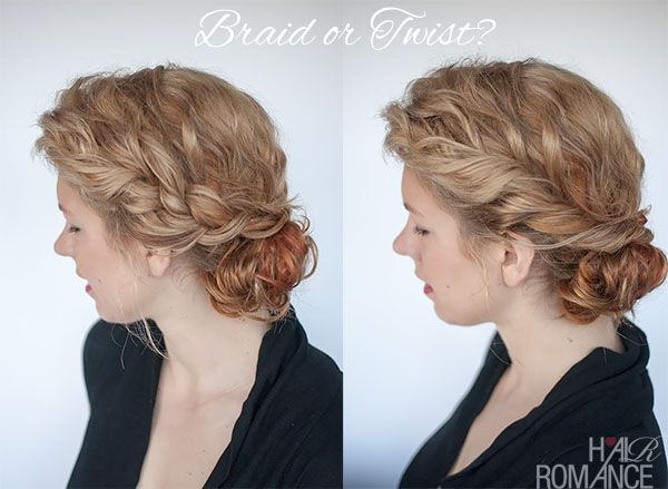 One hairstyle—created for curly hair—two ways. Click on the photo fo...