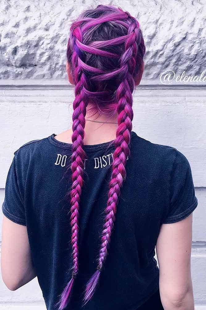 Purple hair is now a huge trend among chic fashionistas and celebrities. Kesha a...