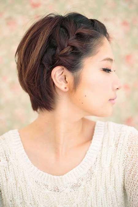Short Hair with Braid - Straight Short Asian Hairstyles...