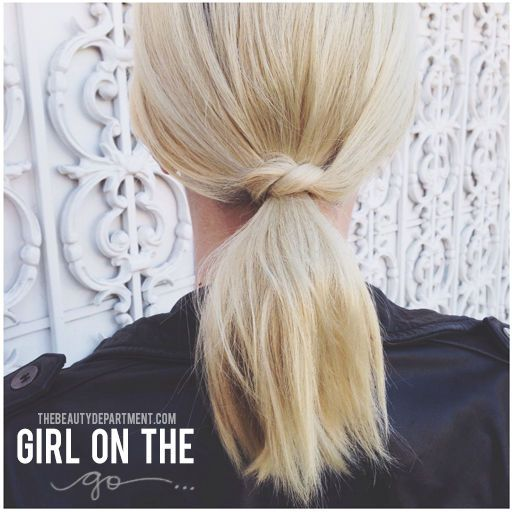 So cute—a fun pony for shorter hair—and so easy. Click on the photo ...