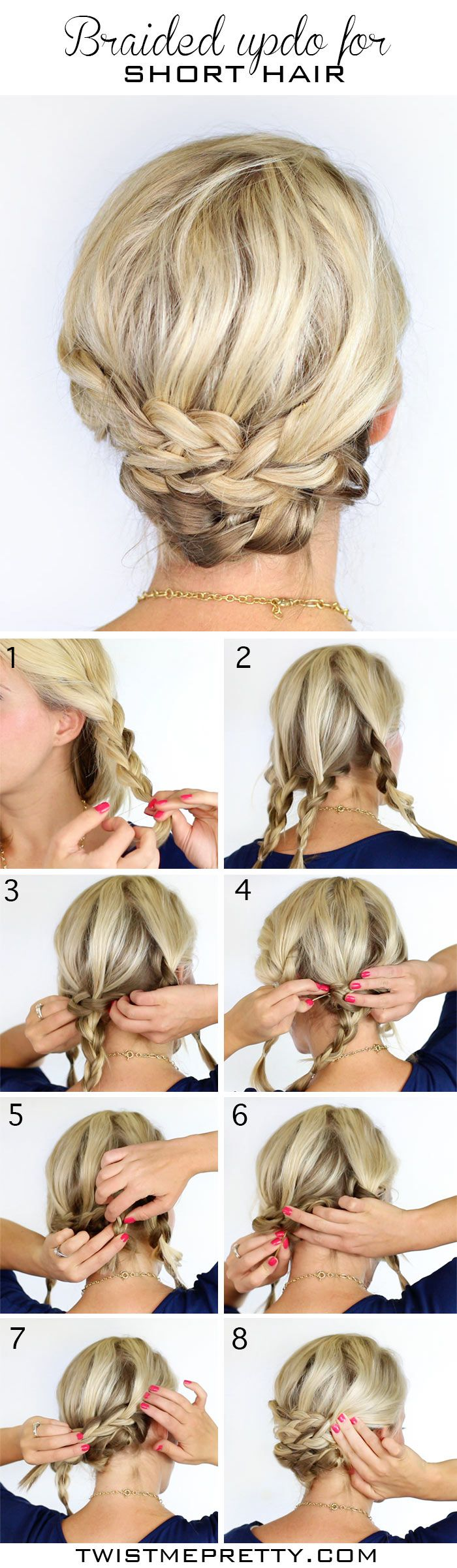 The blogger behind this pretty braided style says it's for short hair, but...