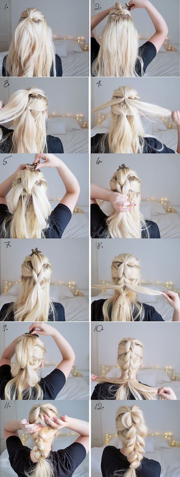 THE CHUNKY BRAID   EASY HAIRSTYLES   STEP BY STEP HAIRSTYLES   HAIRSTYLE TUTORIA...