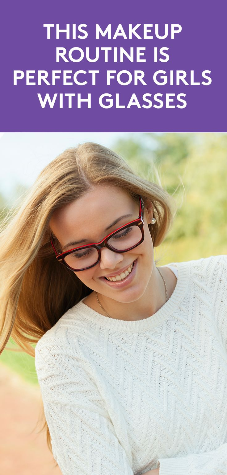 This Makeup Routine Is Perfect for Girls With Glasses | Even those who wear cont...