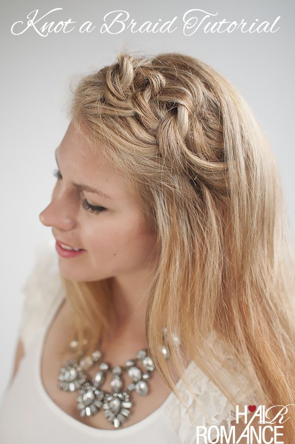 Tie your hair together to create this chain-type hair band (literally!) ....