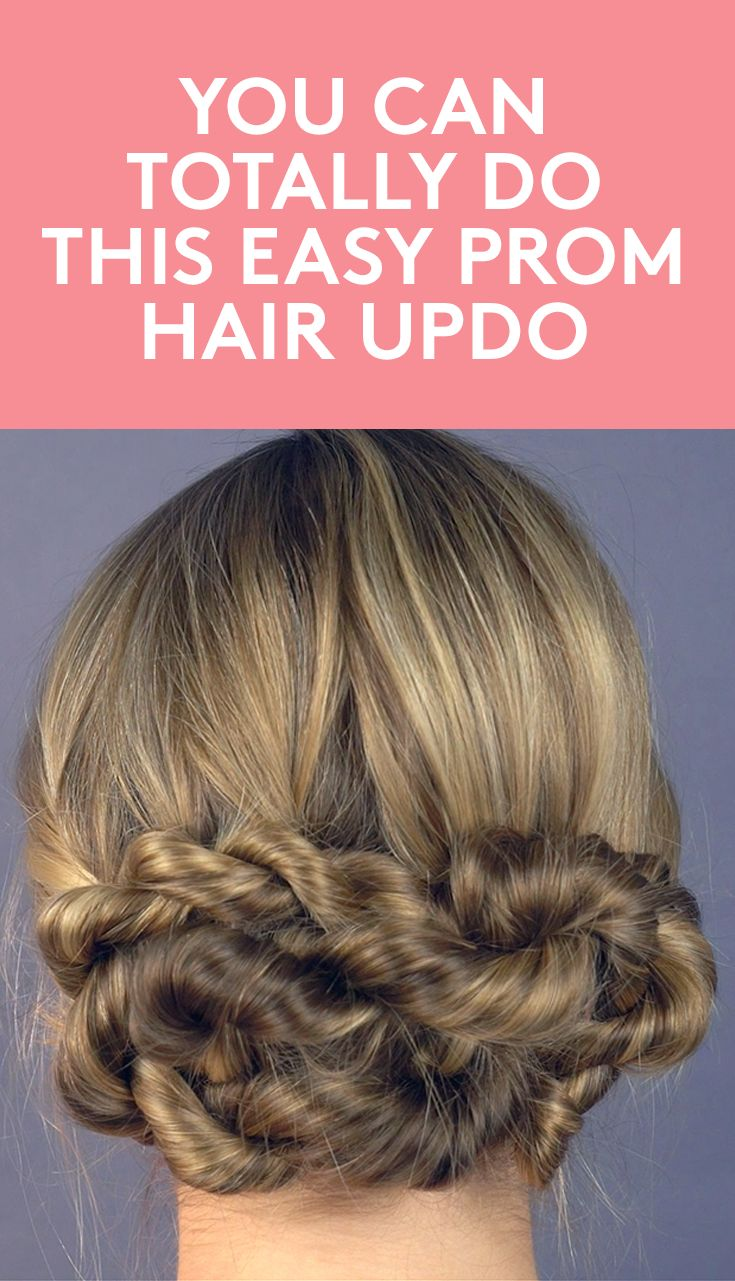 You Can Totally Do This Easy Prom Hair Updo   This prom hair updo is the perfect...