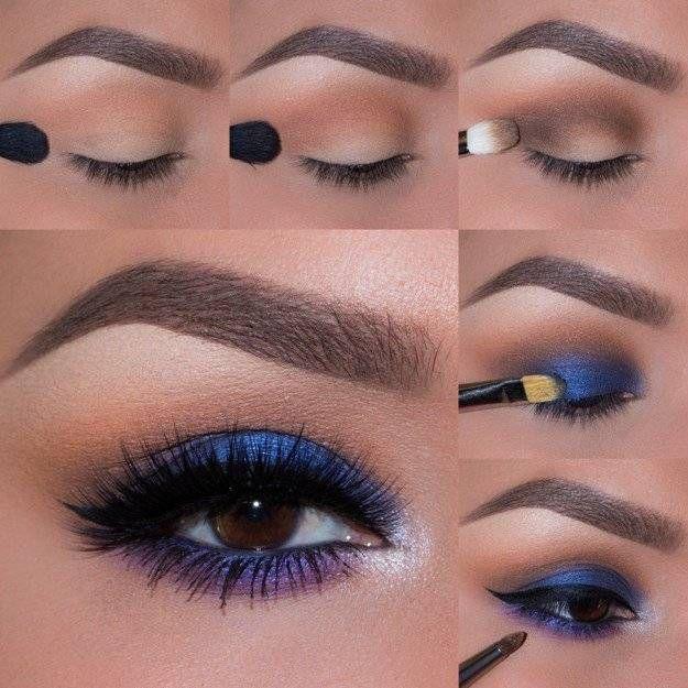 9. Blue Eyeshadow - Smokey Blue Eyeshadow Tutorial for Beginners | Makeup Tutori...