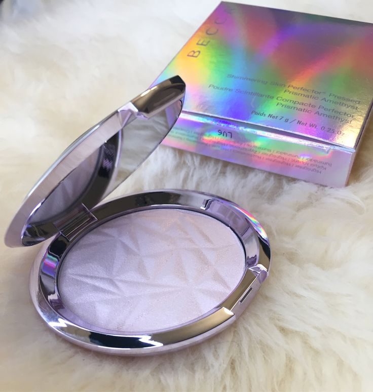 Becca Prismatic Amethyst review and swatches (arm & face) with highlight compari...