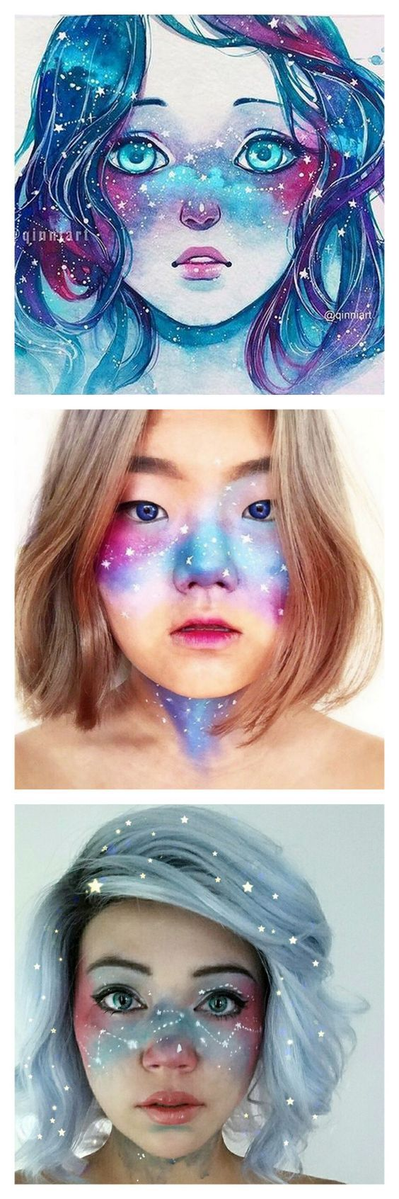 DIY Inspiration: Galaxy Freckles Trend Started by Artist QinniI have seen these ...