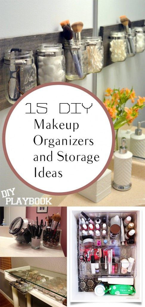 DIY makeup, makeup organization, organizing small bathrooms, bathroom organizati...