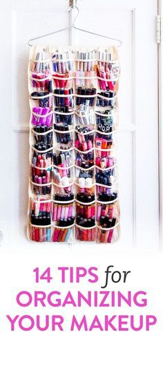 DIY tips for organising your makeup | Interesting, and thrifty ideas for sorting...