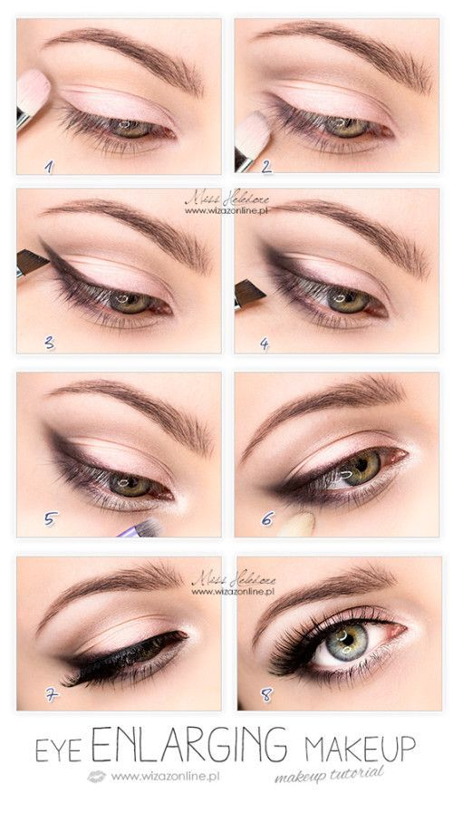Eye enlarging makeup tutorial. Also, I   read somewhere that priming with a whit...