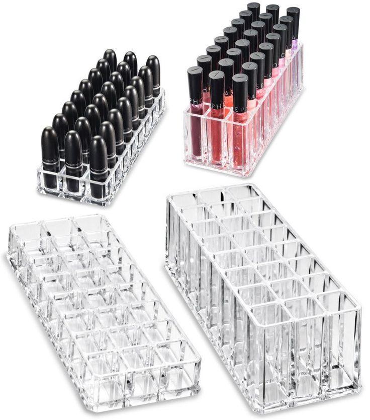 (Gift Set) (1) Acrylic Lipstick & (1) Acrylic Lip Gloss Organizer & Beau...