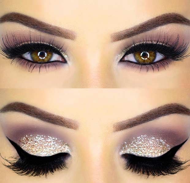 Glitter Eye Makeup Look for New Year's Eve...