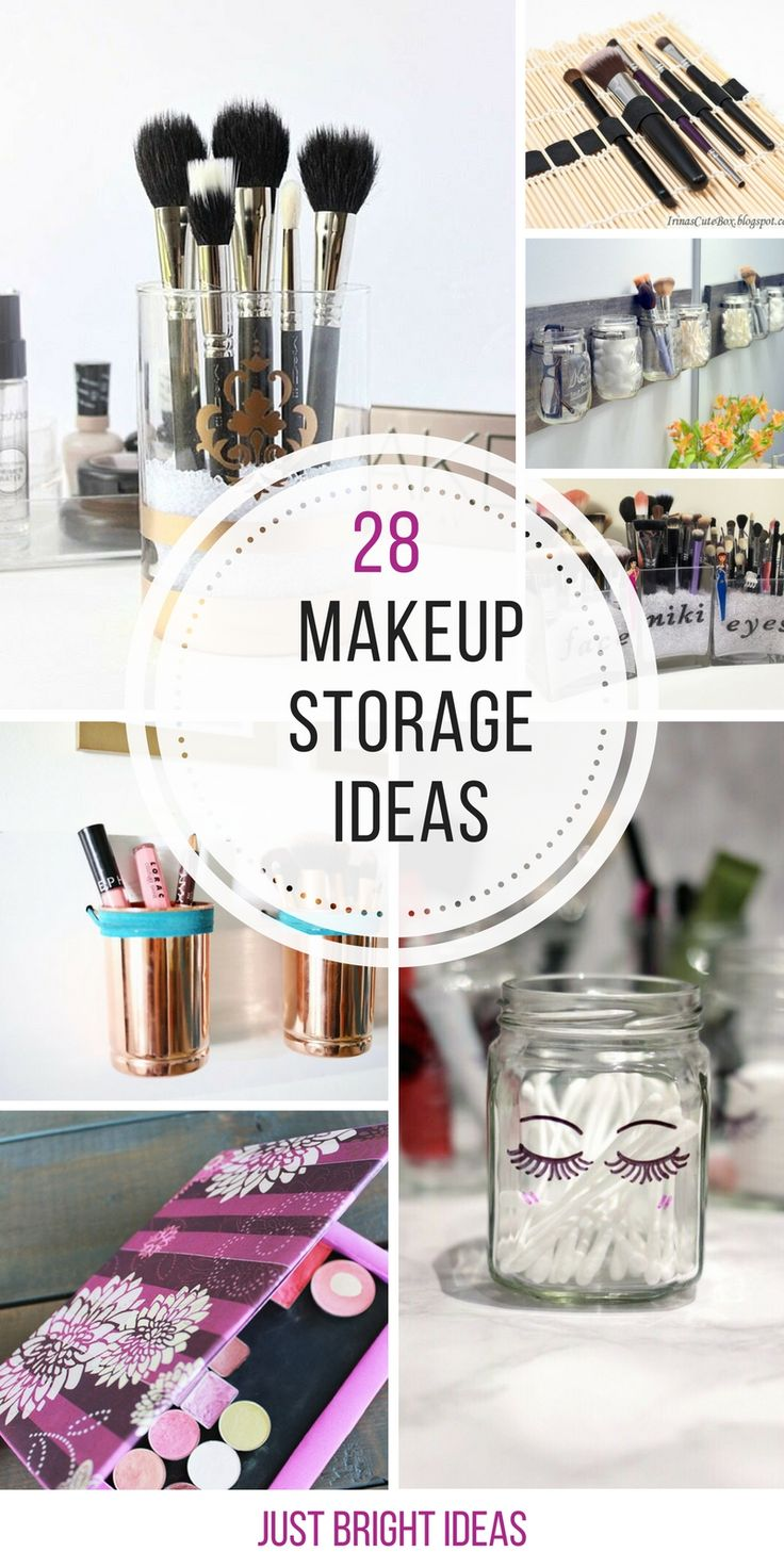 Loving these makeup storage ideas - so easy to make too - thanks for sharing!...