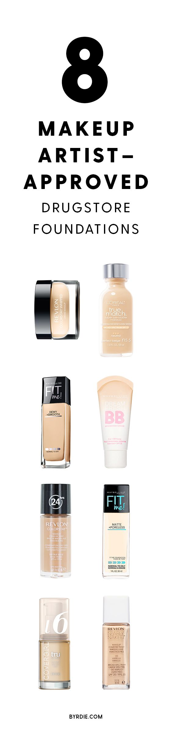 Makeup artist-approved drugstore foundations...