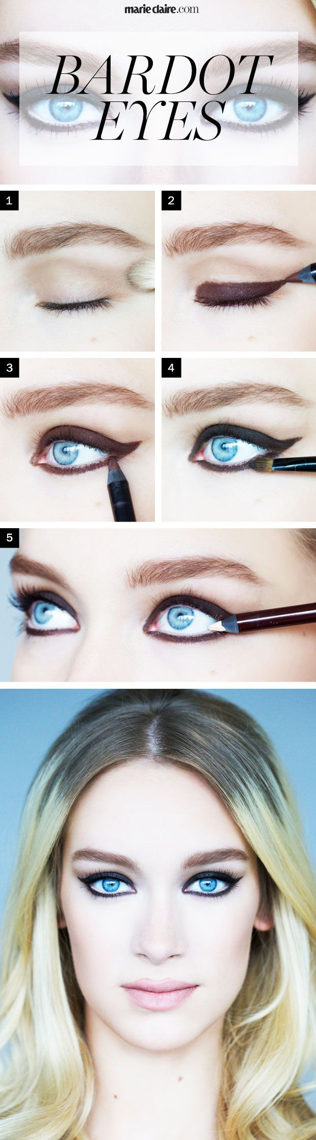Makeup How-To: Brigitte Bardot Eye Makeup | Dramatic Tutorial for a Pretty & Awe...