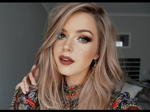 Rustic Boho & Faux Freckles Makeup Tutorial ♡ - YouTube...