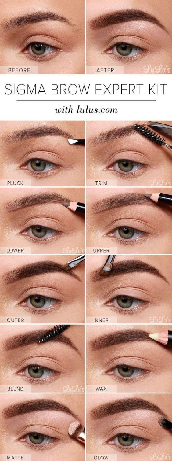 Sigma Brow Expert Kit Eyebrow Tutorial - 13 Best Makeup Tutorials and Infographi...
