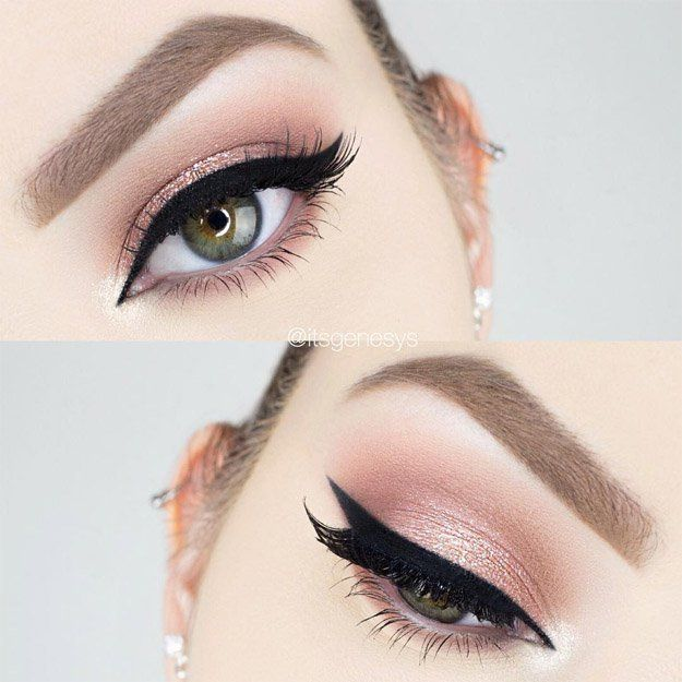 Simple Glitter Rose Gold Makeup | Rose Gold Makeup Tutorial Perfect For Any Seas...