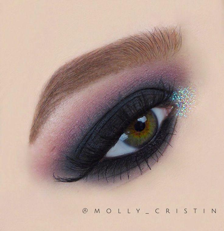 Smokes n Sparkle Makeup Tutorial by Molly Rodriguez. Makeup Geek Eyeshadow in Ca...