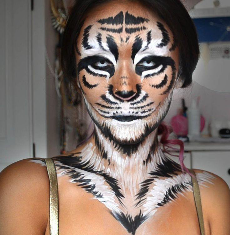 Tiger Halloween Makeup...
