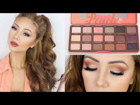 Too Faced Sweet Peach Palette Look | Spring Makeup | Lisa Lorles - YouTube...