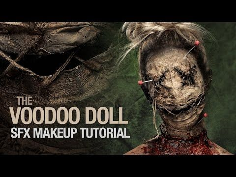 Voodoo doll special fx makeup tutorial - YouTube holy shit balls have to try thi...