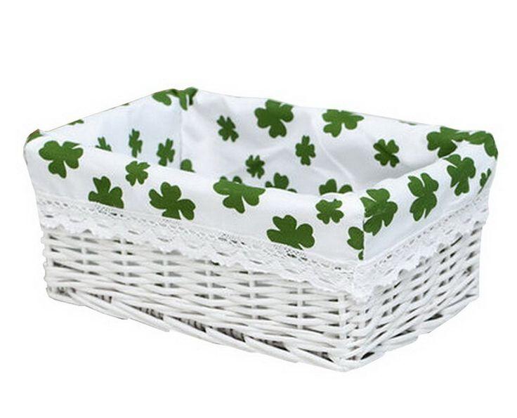 Wicker Basket Food Storage Basket Cosmetic Storage Basket WHITE[Clover] * Click ...