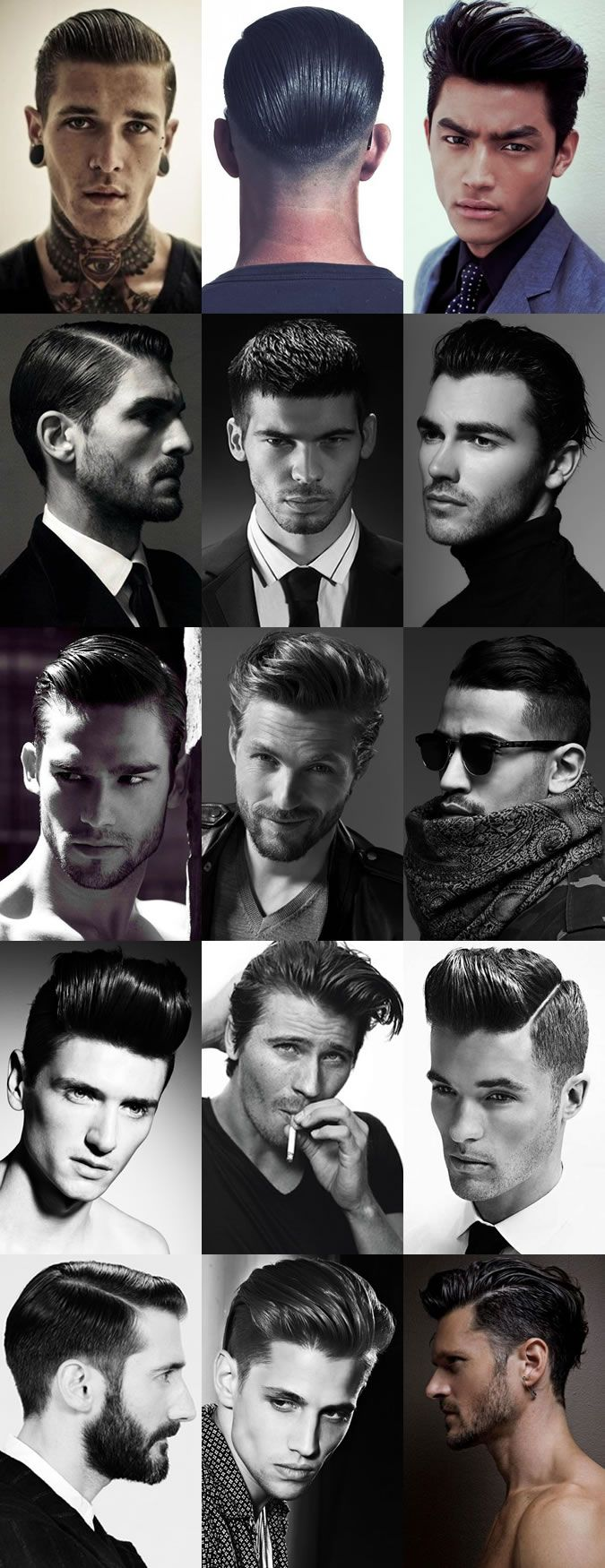 Men's Sheen, High Shine and Wet Look Hairstyles...