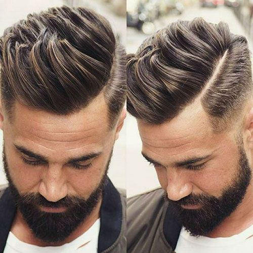 Textured Quiff with Low Fade and Part...