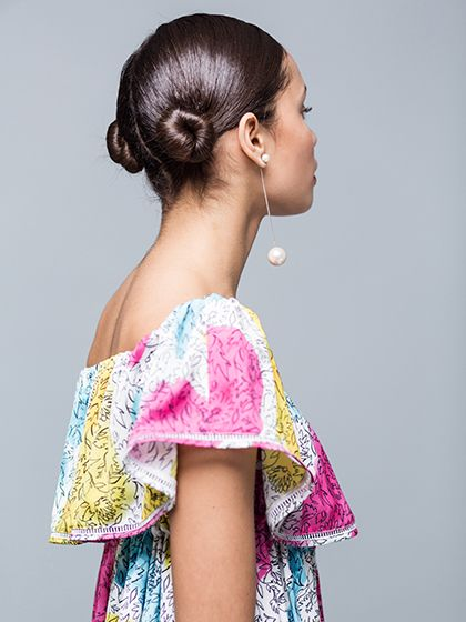 Summer Hairstyle - Double Buns   allure.com...