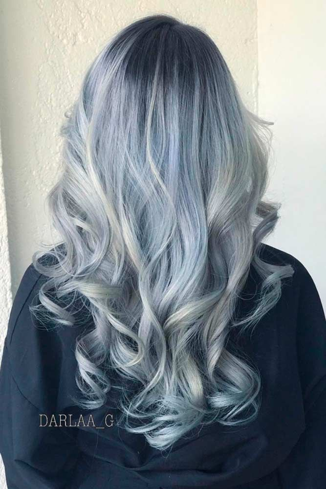 Ashen Grey Ombre #grayhair ❤️ Gray hair is becoming quite trendy thanks to p...