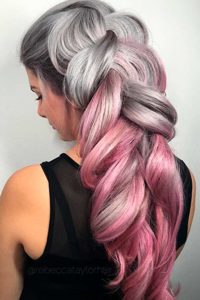 Spicy Silver #grayhair ❤️ Gray hair is becoming quite trendy thanks to pop s...